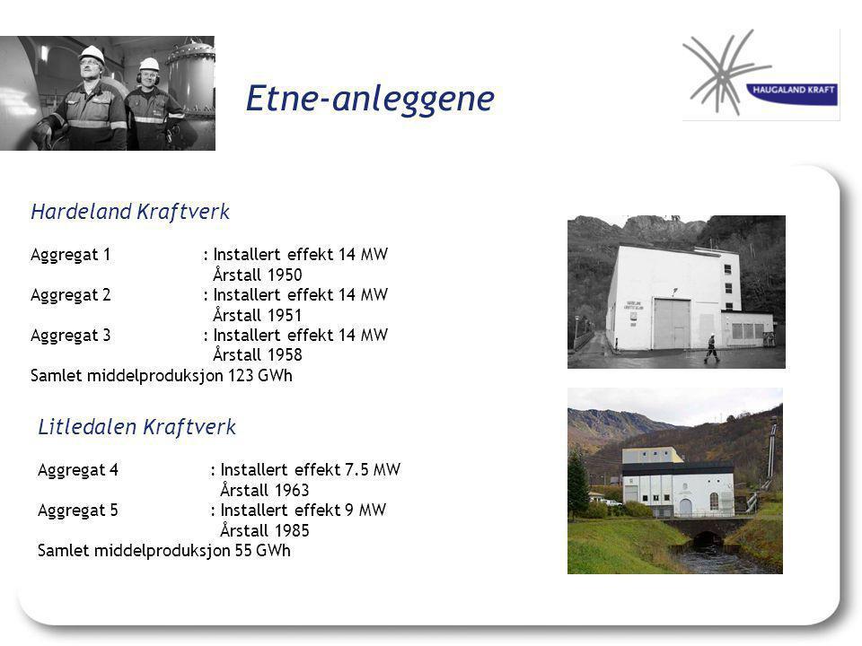 Etne-anleggene Hardeland Kraftverk Litledalen Kraftverk