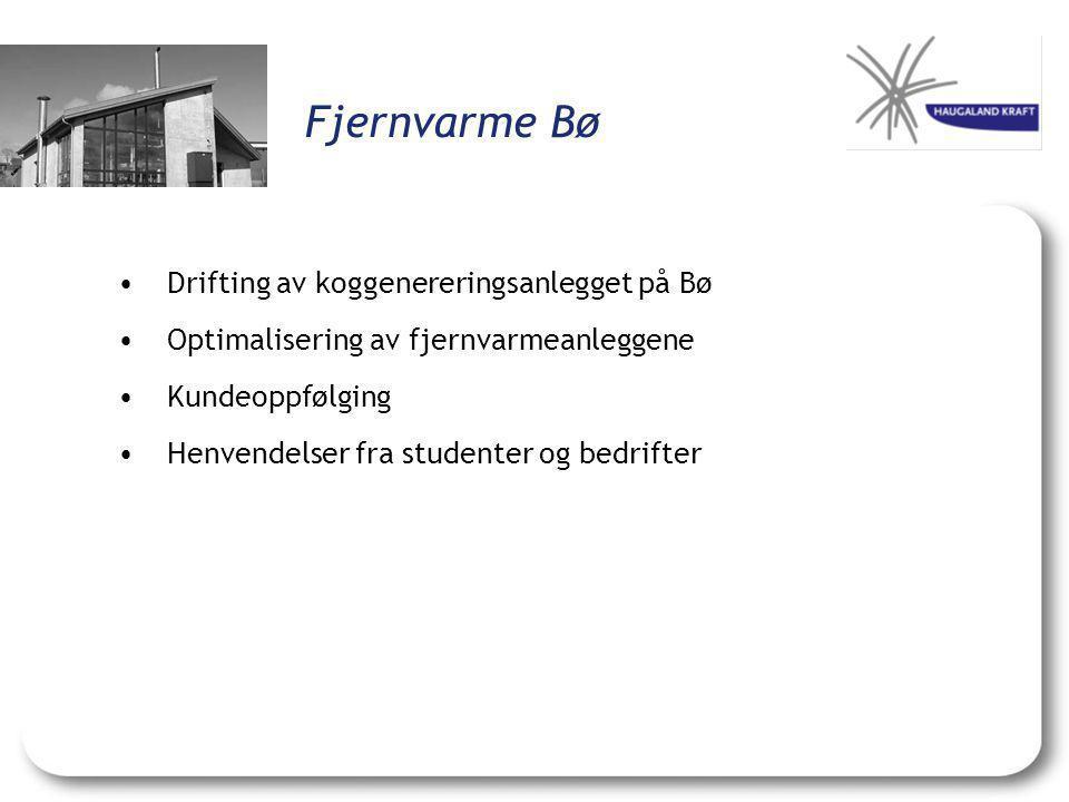 Fjernvarme Bø Drifting av koggenereringsanlegget på Bø