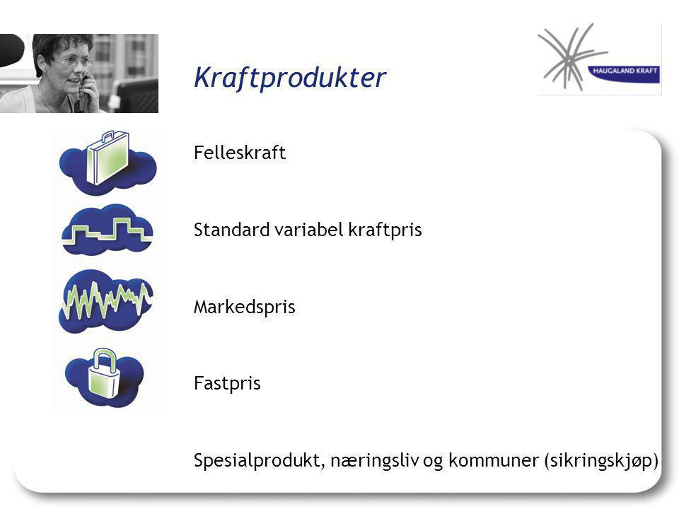 Kraftprodukter Felleskraft Standard variabel kraftpris Markedspris