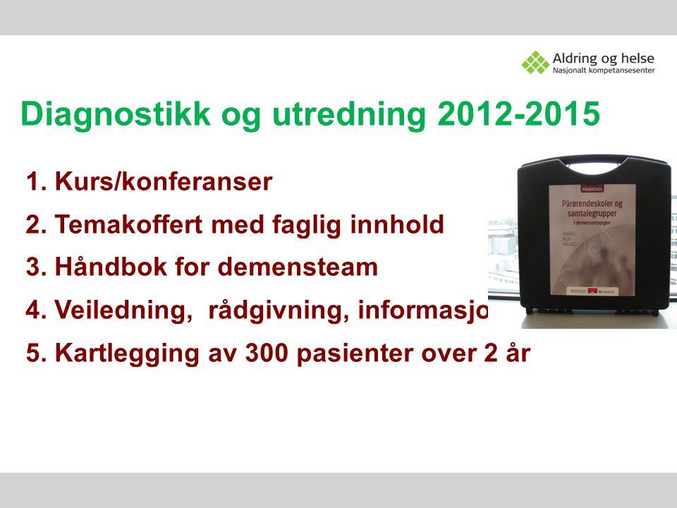 Diagnostikk og utredning 2012-2015