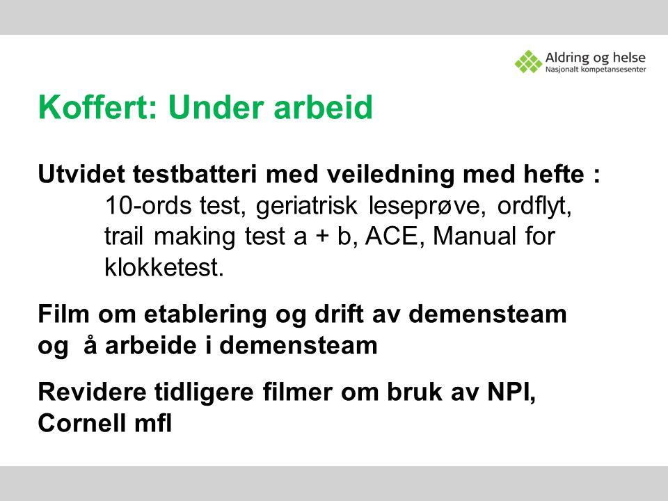 Koffert: Under arbeid Utvidet testbatteri med veiledning med hefte :