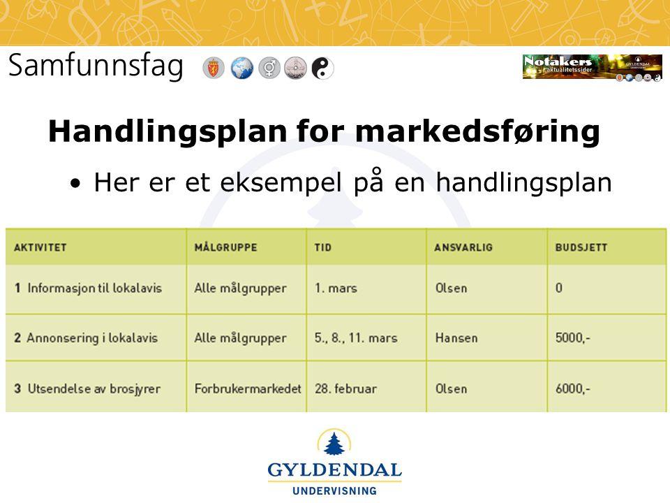 Handlingsplan for markedsføring