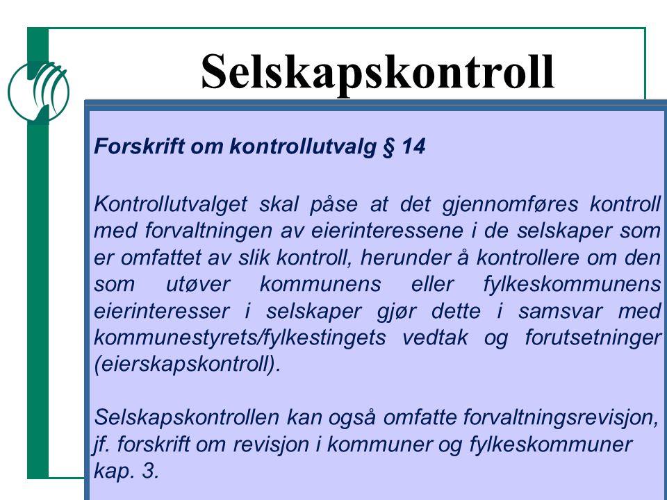 Selskapskontroll Kommuneloven § 77, nr. 5: