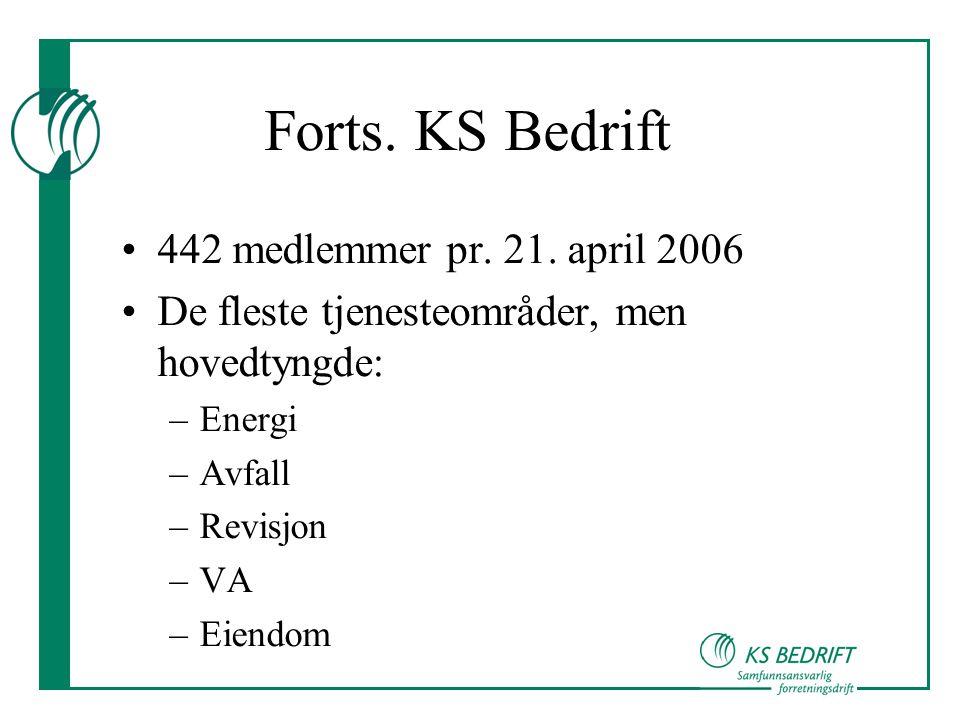 Forts. KS Bedrift 442 medlemmer pr. 21. april 2006