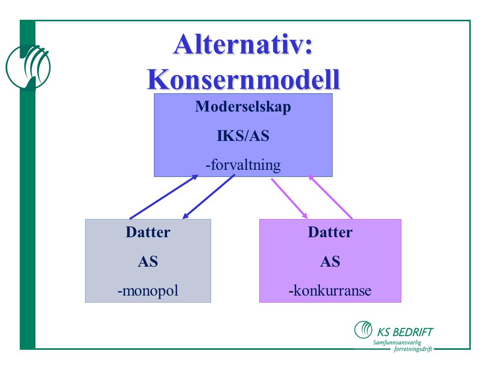 Alternativ: Konsernmodell