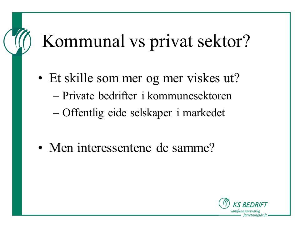 Kommunal vs privat sektor