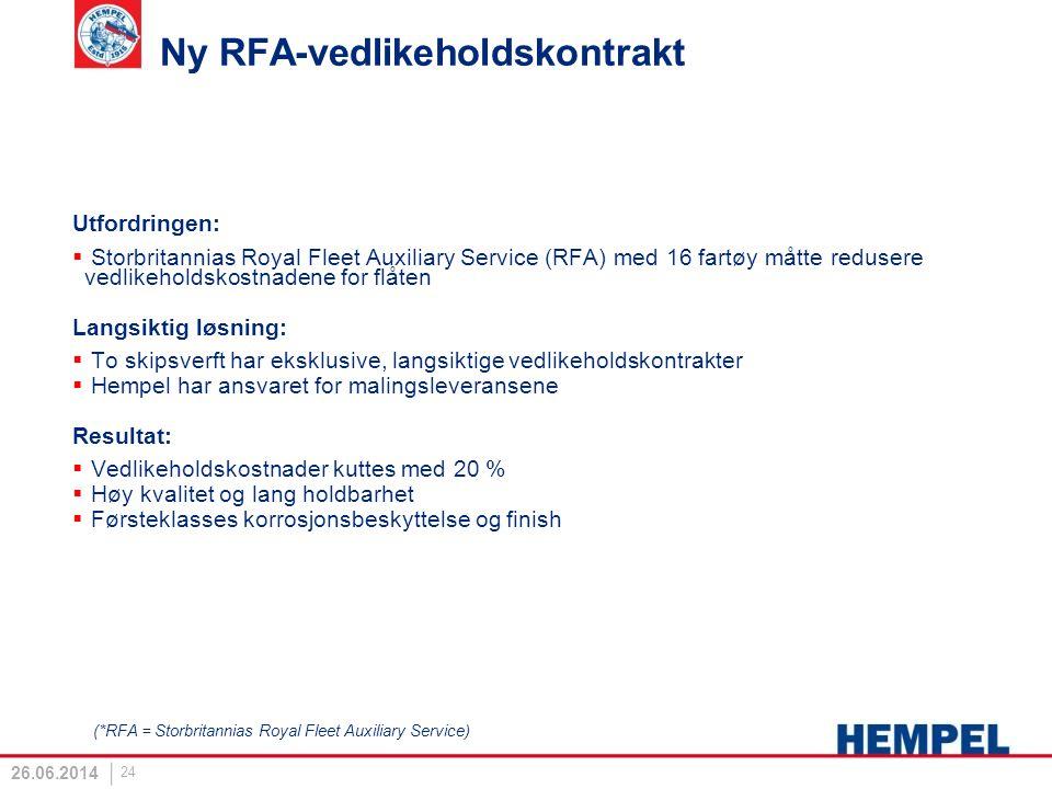 Ny RFA-vedlikeholdskontrakt