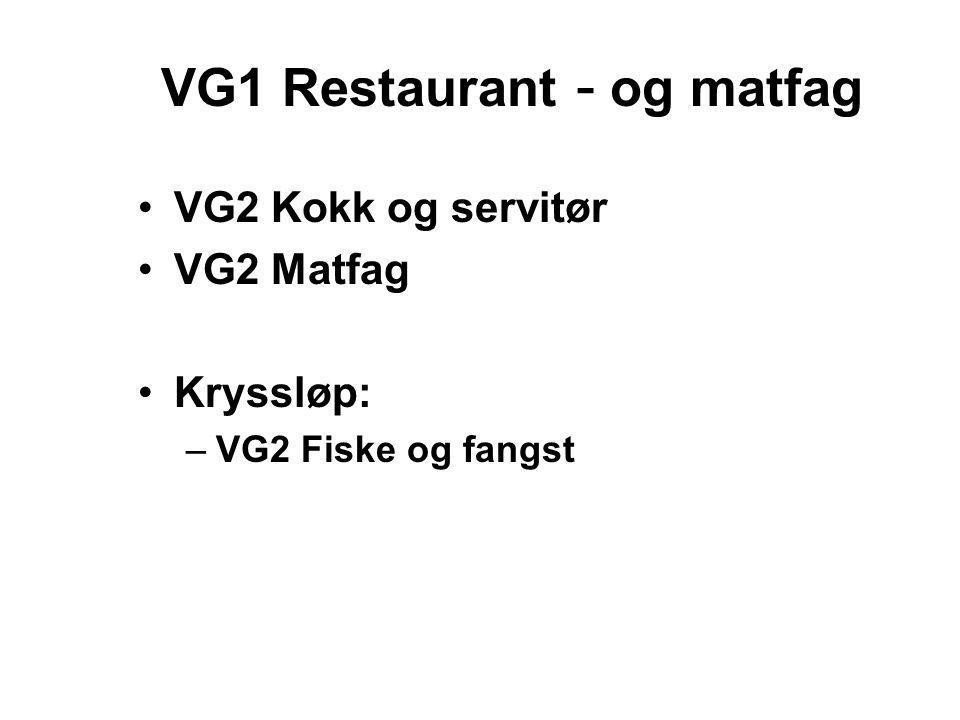 VG1 Restaurant - og matfag