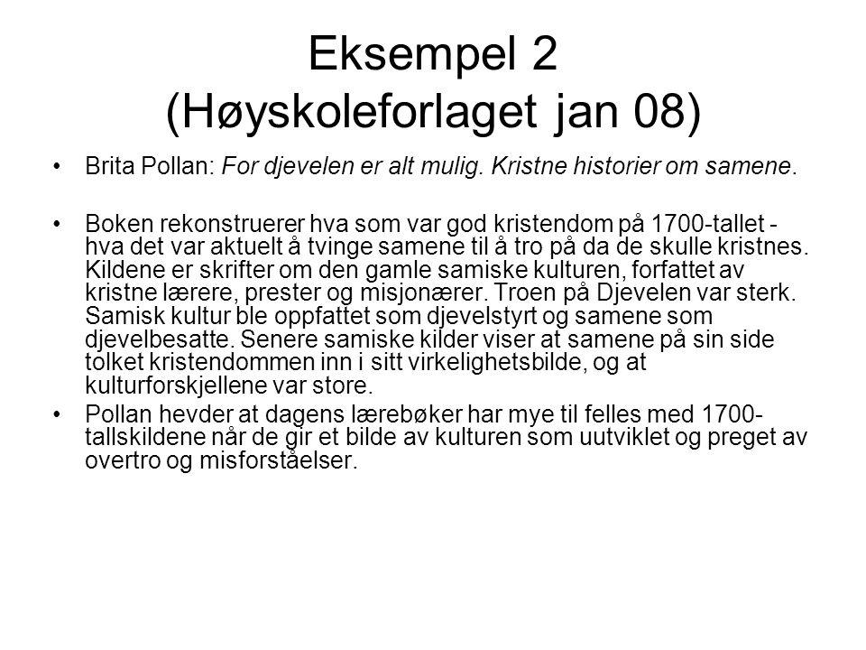 Eksempel 2 (Høyskoleforlaget jan 08)