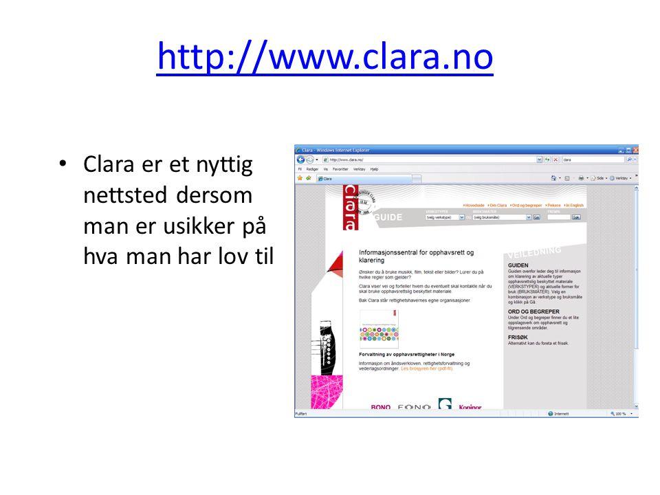 http://www.clara.no Clara er et nyttig nettsted dersom man er usikker på hva man har lov til