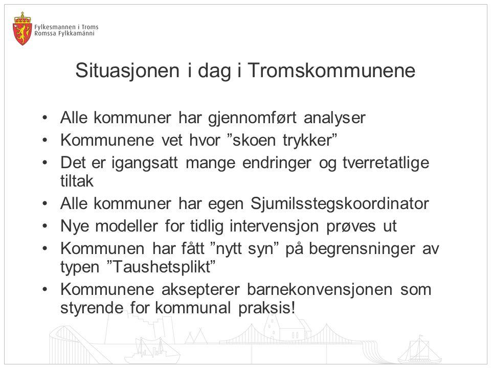Situasjonen i dag i Tromskommunene