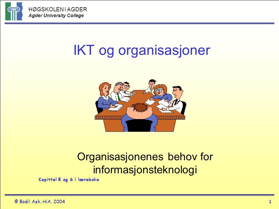 Organisasjonenes behov for informasjonsteknologi