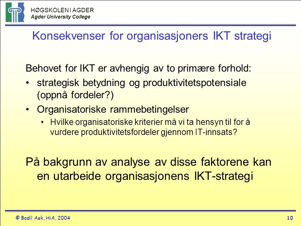 Konsekvenser for organisasjoners IKT strategi