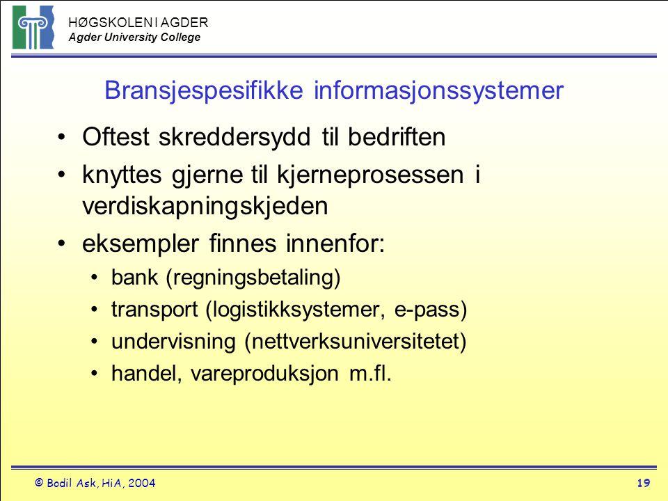 Bransjespesifikke informasjonssystemer