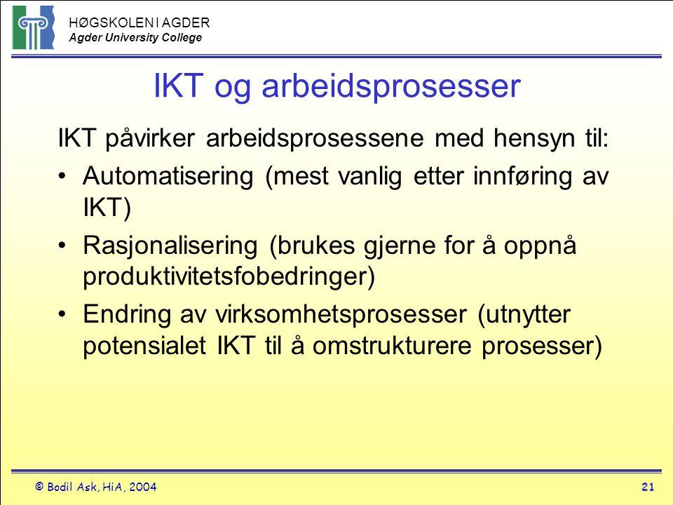 IKT og arbeidsprosesser