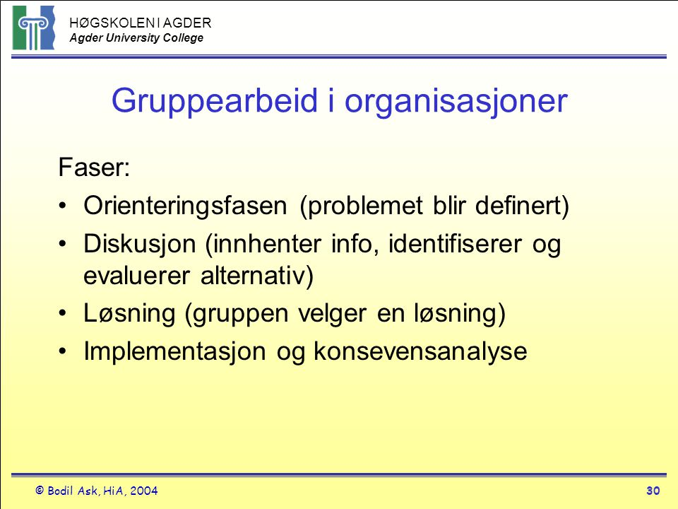 Gruppearbeid i organisasjoner