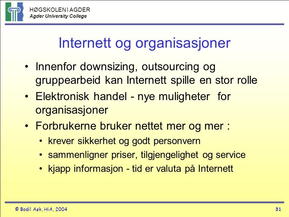 Internett og organisasjoner