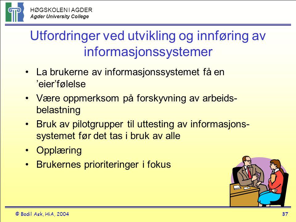 Utfordringer ved utvikling og innføring av informasjonssystemer