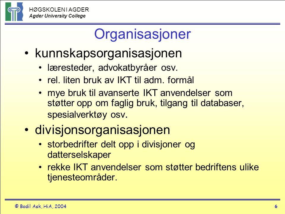 Organisasjoner kunnskapsorganisasjonen divisjonsorganisasjonen