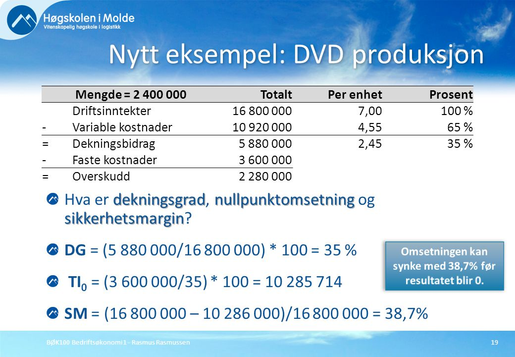 Nytt eksempel: DVD produksjon