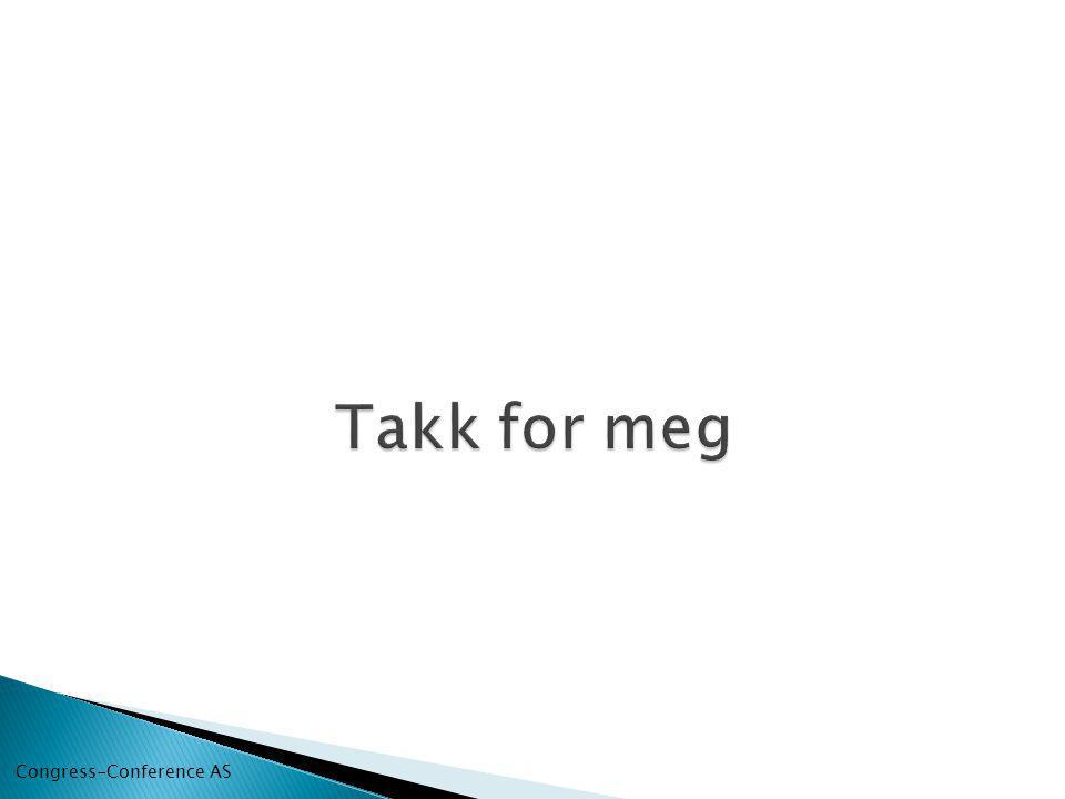 Takk for meg Congress-Conference AS
