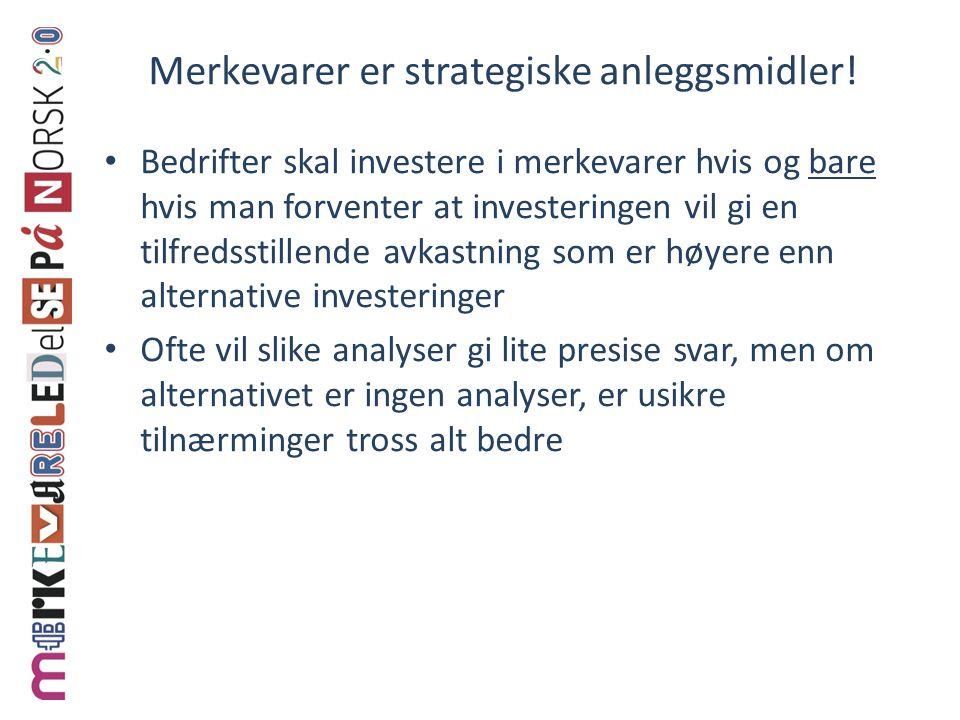 Merkevarer er strategiske anleggsmidler!