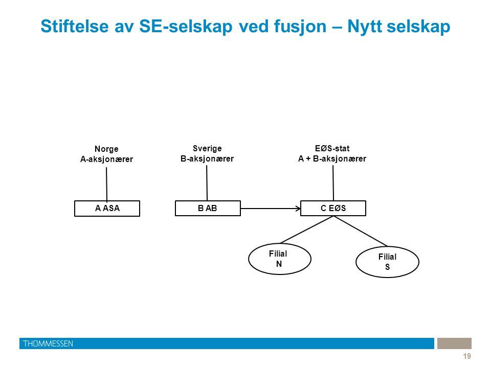 Stiftelse av SE-selskap ved fusjon – Nytt selskap