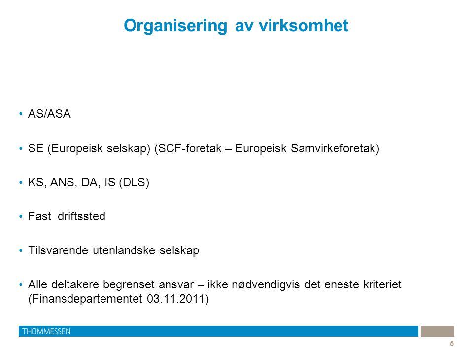 Organisering av virksomhet