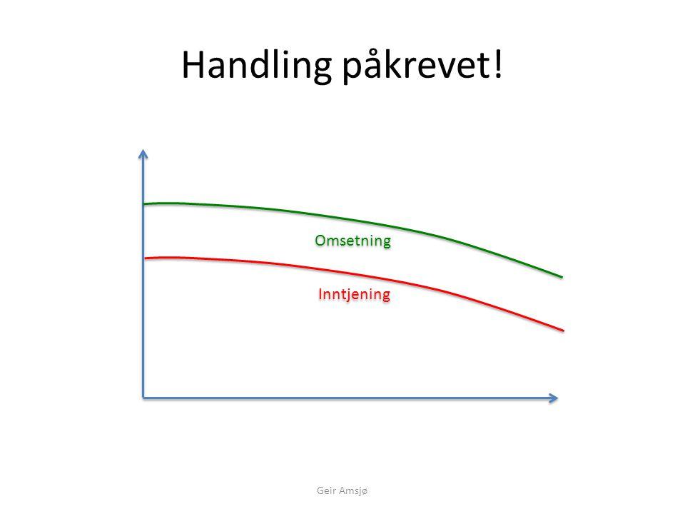 Handling påkrevet! Omsetning Inntjening Geir Amsjø