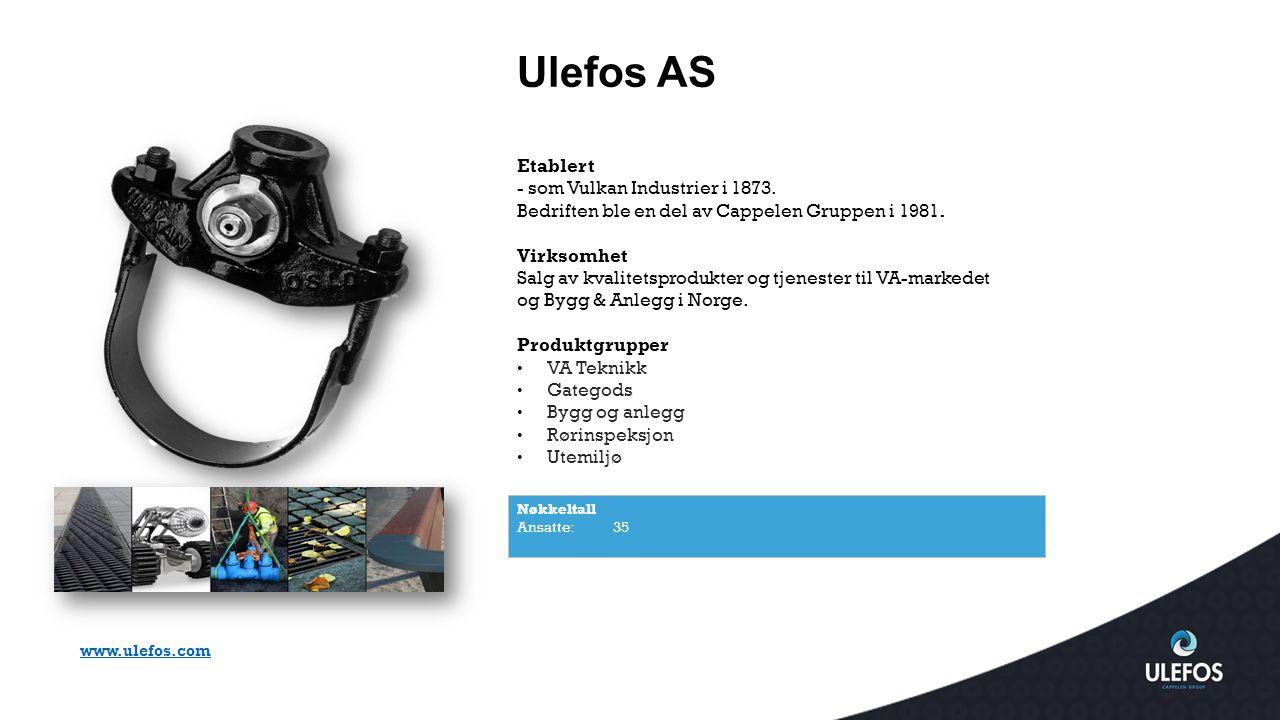 Ulefos AS Etablert - som Vulkan Industrier i 1873.