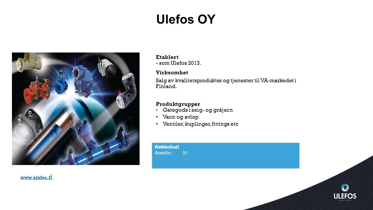 Ulefos OY Etablert - som Ulefos 2013. Virksomhet