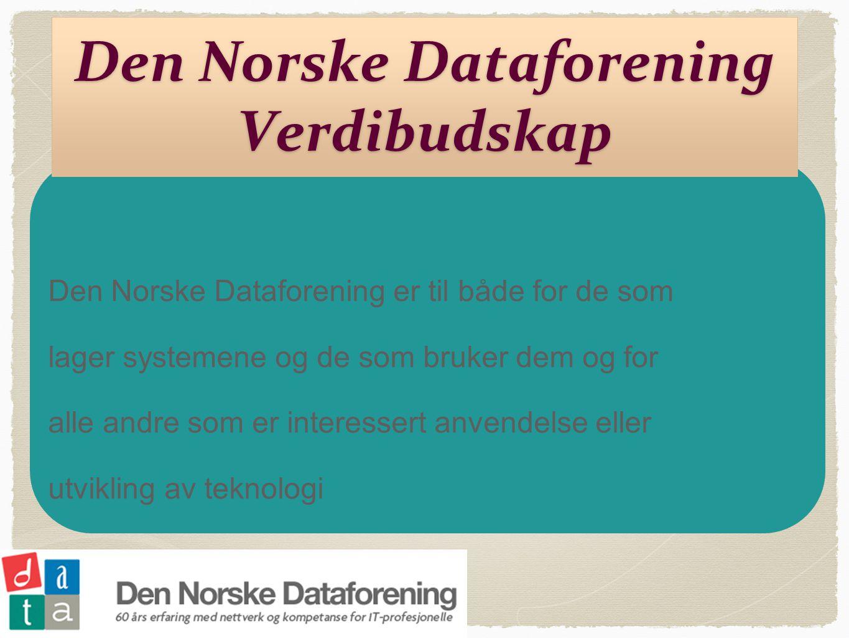 Den Norske Dataforening Verdibudskap