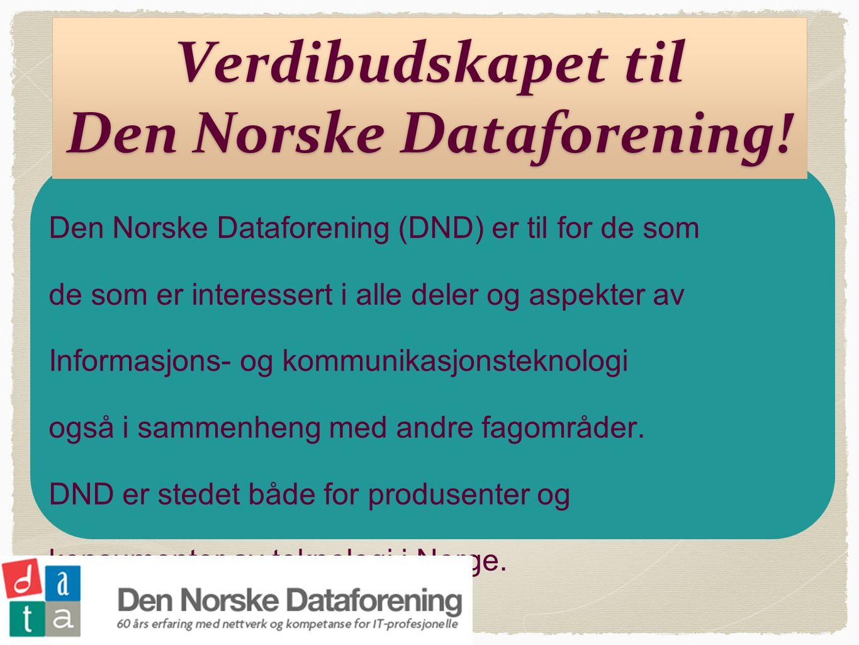 Verdibudskapet til Den Norske Dataforening!