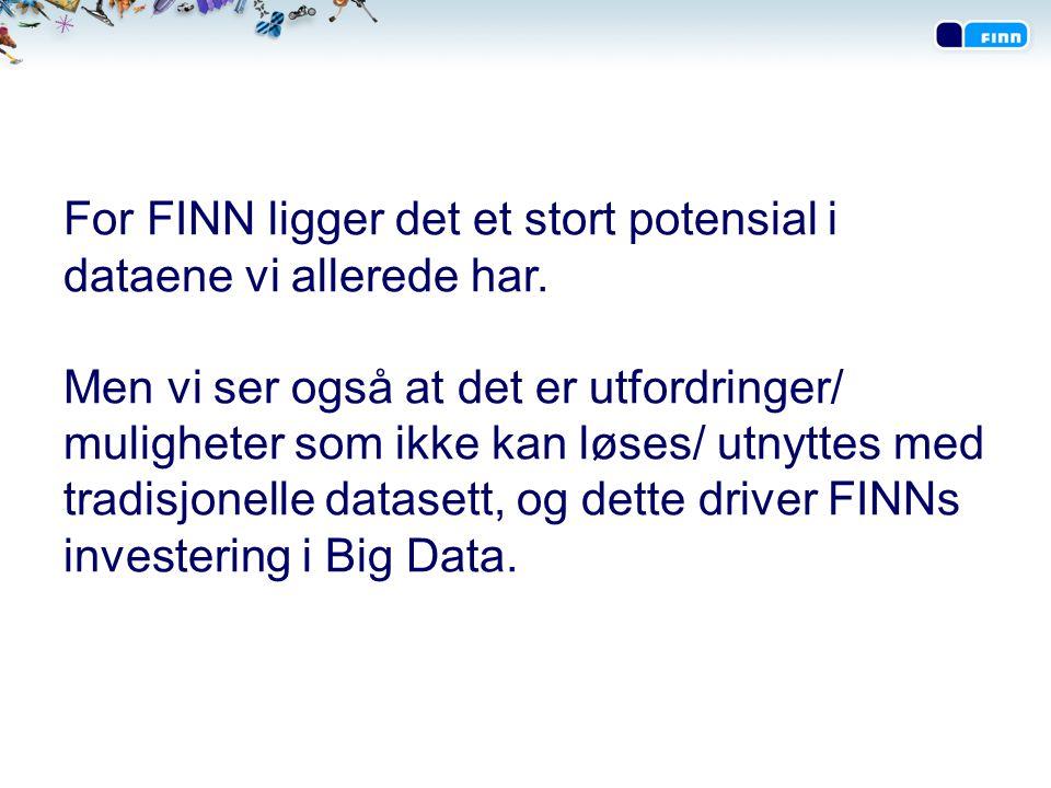 For FINN ligger det et stort potensial i dataene vi allerede har