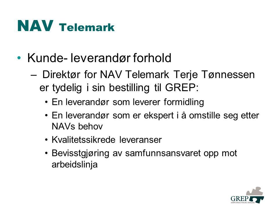 NAV Telemark Kunde- leverandør forhold