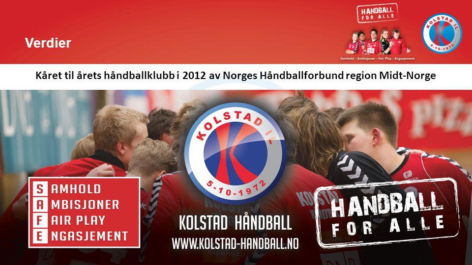 Verdier Kåret til årets håndballklubb i 2012 av Norges Håndballforbund region Midt-Norge