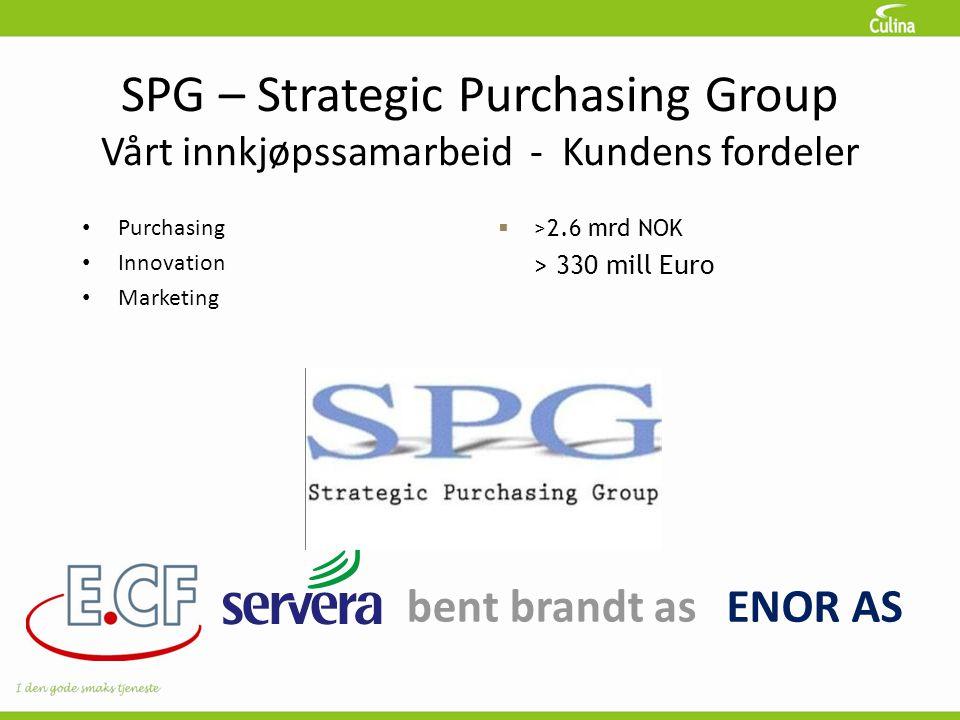 SPG – Strategic Purchasing Group Vårt innkjøpssamarbeid - Kundens fordeler