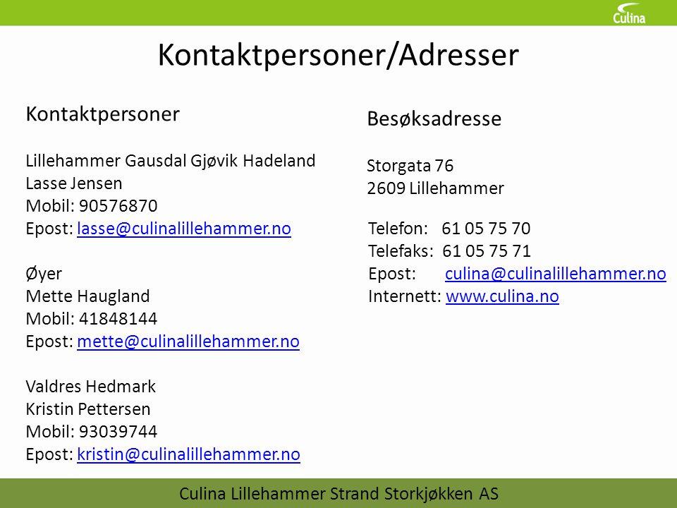 Kontaktpersoner/Adresser