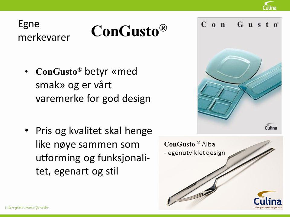 ConGusto® Egne merkevarer