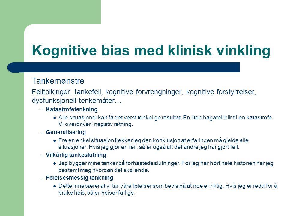 Kognitive bias med klinisk vinkling