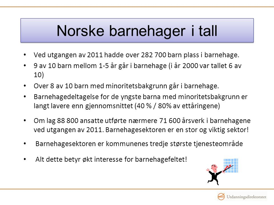 Norske barnehager i tall