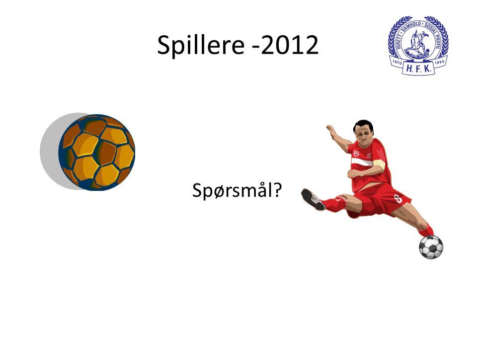 Spillere -2012 Spørsmål