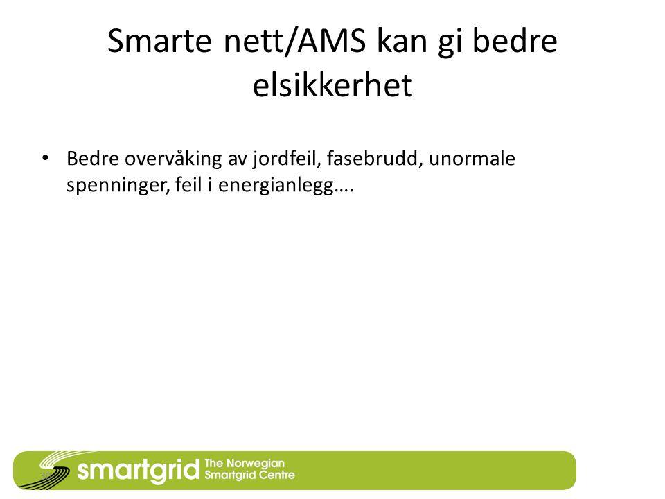 Smarte nett/AMS kan gi bedre elsikkerhet