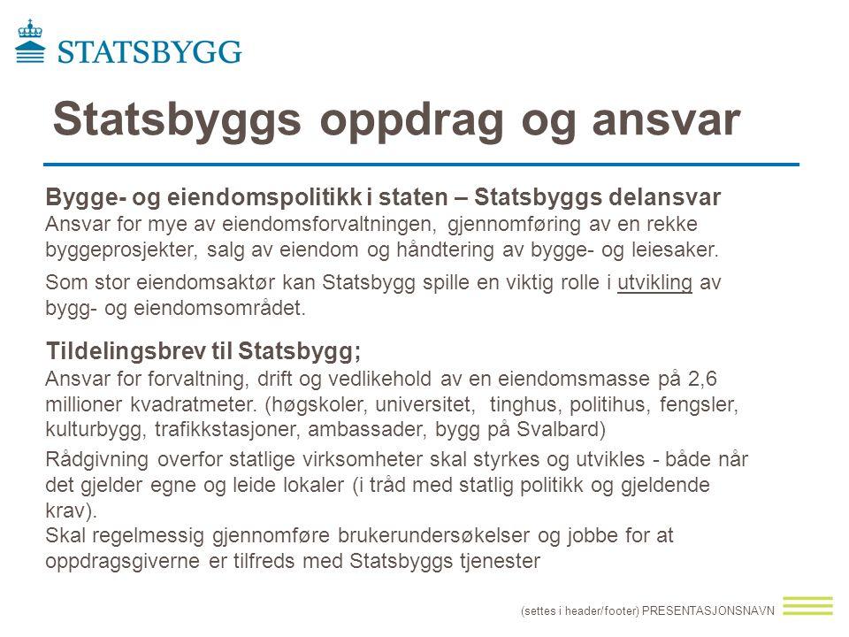 Statsbyggs oppdrag og ansvar