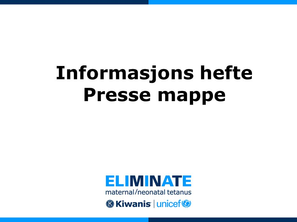 Informasjons hefte Presse mappe