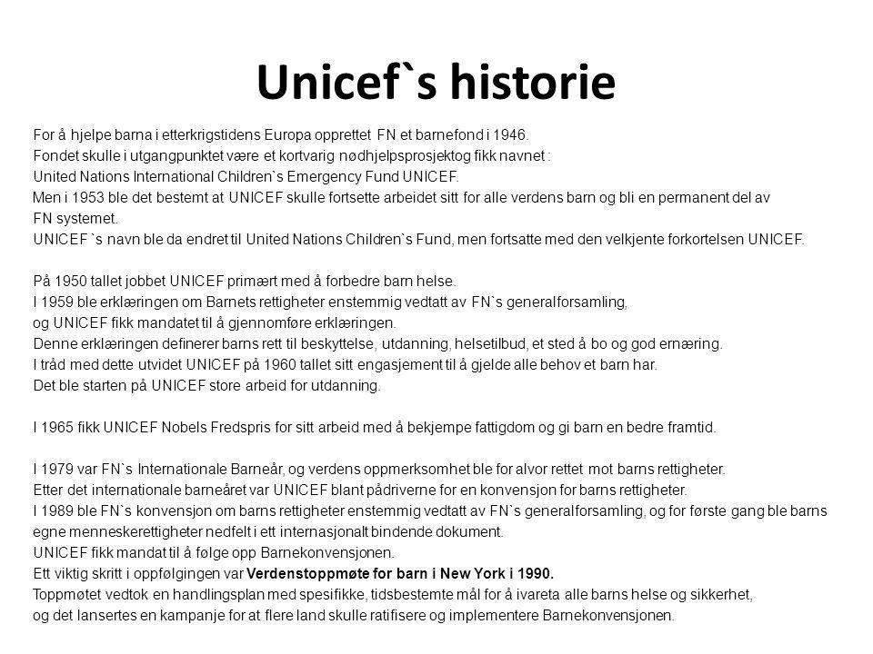 Unicef`s historie