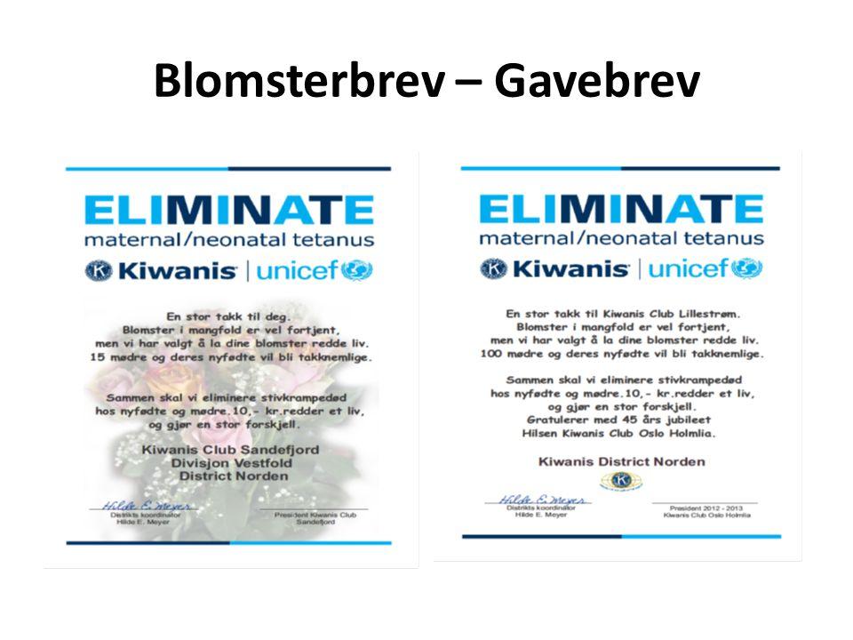 Blomsterbrev – Gavebrev