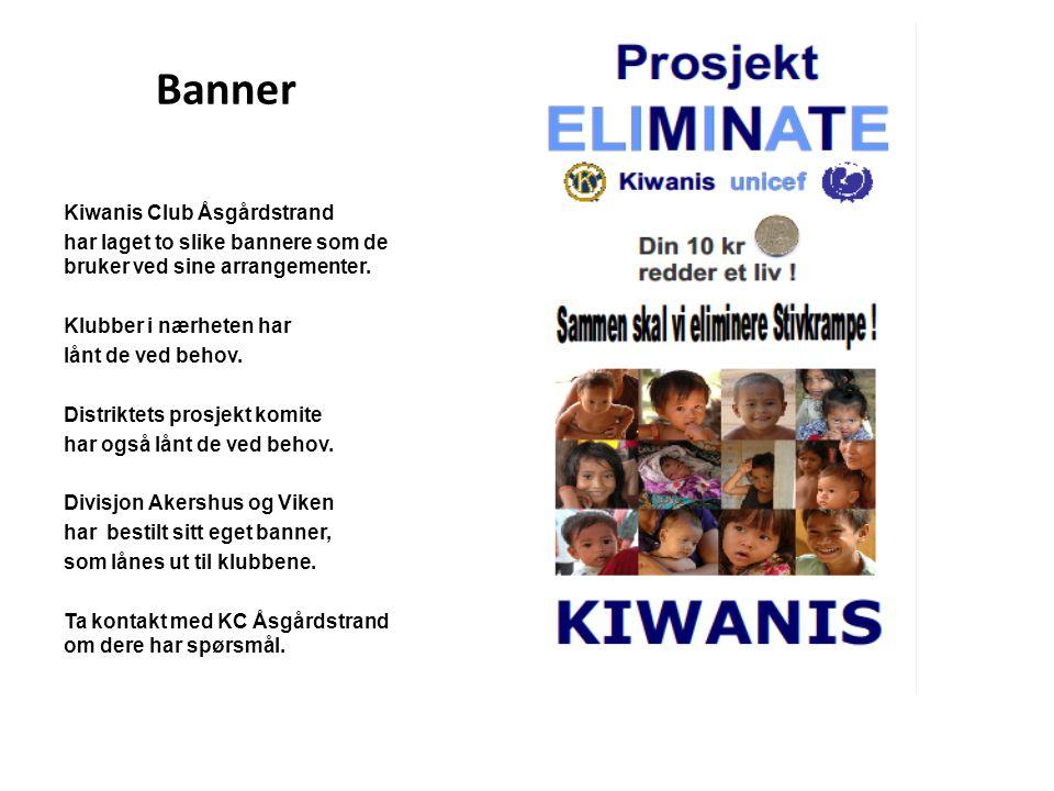 Banner Kiwanis Club Åsgårdstrand