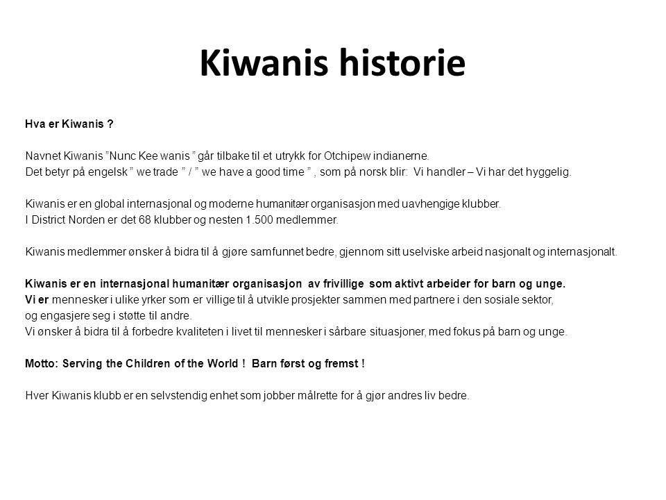 Kiwanis historie