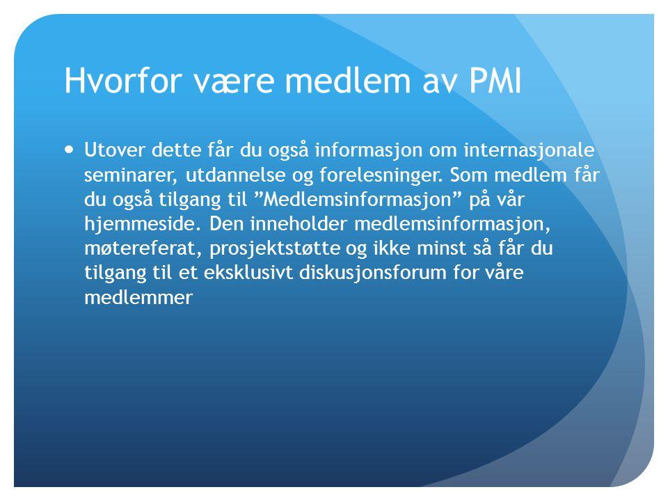 Hvorfor være medlem av PMI